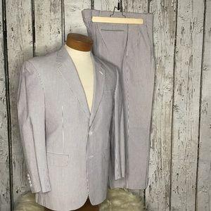Joseph A Banks  pinstripe seersucker suit